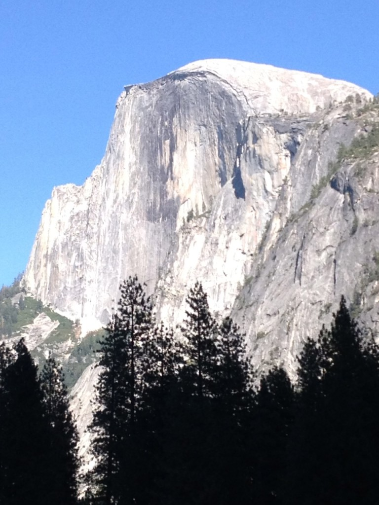 Half Dome Sept 21 from Yosemite Valley. Hard to believe tomorrow we may be on the summit